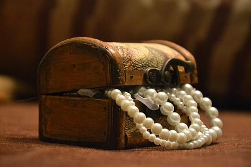 naszyjnik z pereł naturalnych słodkowodnych