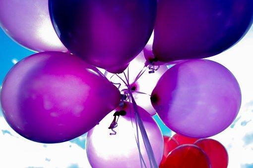 wzorzyste balony na urodziny z helem